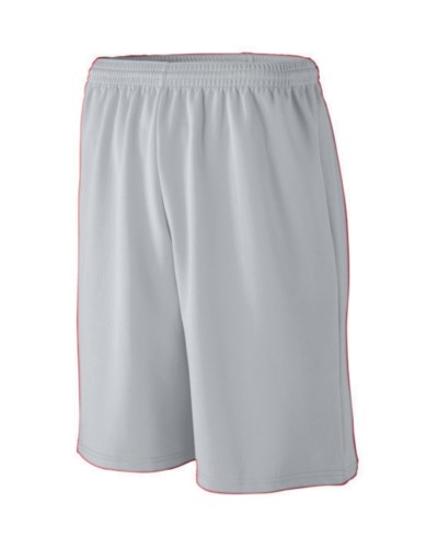 Youth Long Length Wicking Mesh Athletic Short