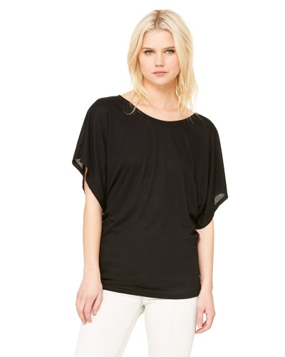 Ladies' Flowy Draped Sleeve Dolman T-Shirt