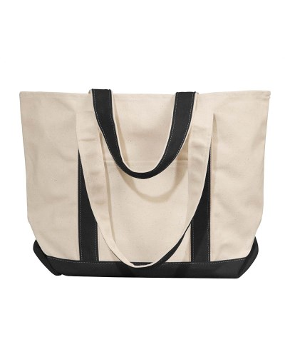Windward Large Cotton Canvas Classic Boat Tote