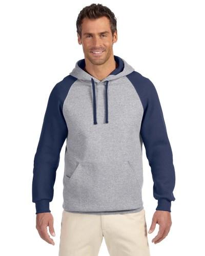 Jerzees 96CR Adult NuBlend Colorblock Raglan Pullover Hood