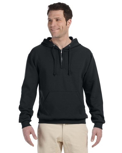 Jerzees 994MR Adult NuBlend Fleece Quarter-Zip Pullover Hood
