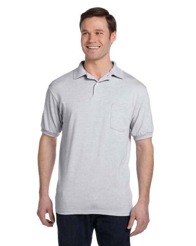 Men's 5.2 oz. 50/50 EcoSmart® Jersey Pocket Polo