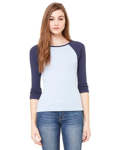 Bella + Canvas B2000 Ladies 3/4-Sleeve Raglan T-Shirt