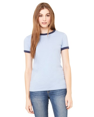 Ladies' Jersey Short-Sleeve Ringer T-Shirt