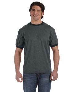 6 oz. Direct-Dyed Heather Ringer T-Shirt