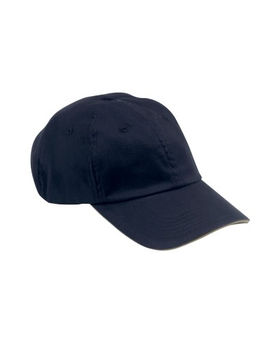 Big Accessories BX001S 6-Panel Unstructured Cap with Sandwich Bill