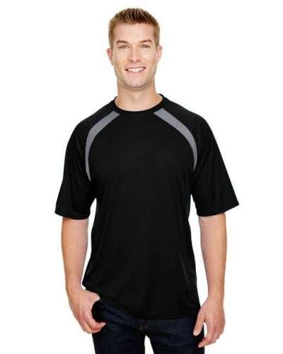 Men's Spartan Short Sleeve Color Block Crew Neck T-Shirt