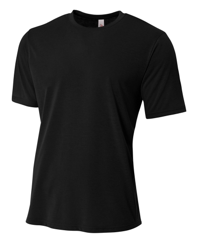 Men's Shorts Sleeve Spun Poly T-Shirt