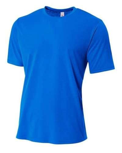 Men's Shorts Sleeve Spun Poly T-Shirt