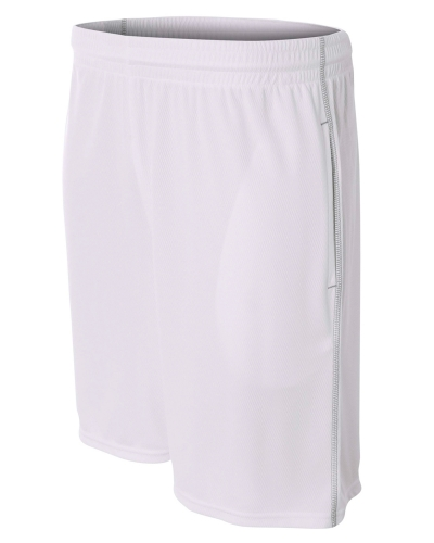 Men's Flat Back Mesh Shorts w/ Contrast Stitching