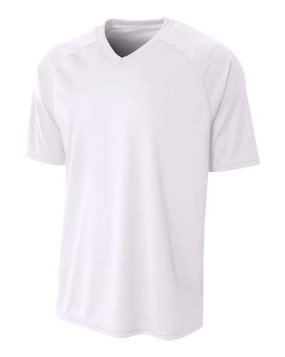 Youth Polyester V-Neck Strike Jersey with Contrast Sleeves