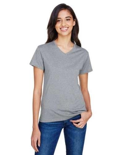 Ladies' Topflight Heather V-Neck T-Shirt