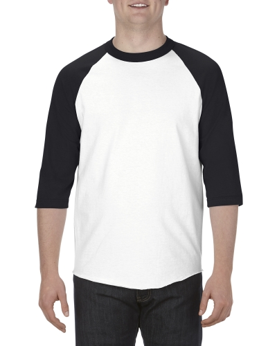 Adult 6.0 oz., 100% Cotton 3/4 Raglan T-Shirt