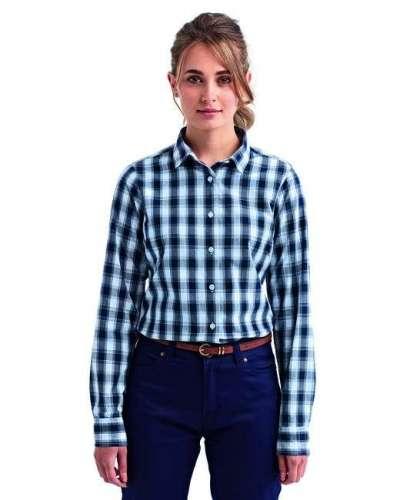 Ladies' Mulligan Check Long-Sleeve Cotton Shirt