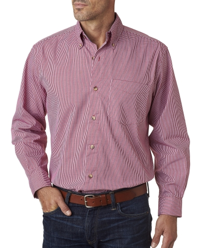 Men's Yarn-Dyed Micro-Check Pattern Woven
