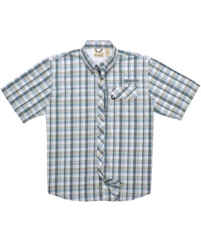 Men's Tall Sport Utility Short-Sleeve Plaid Shirt