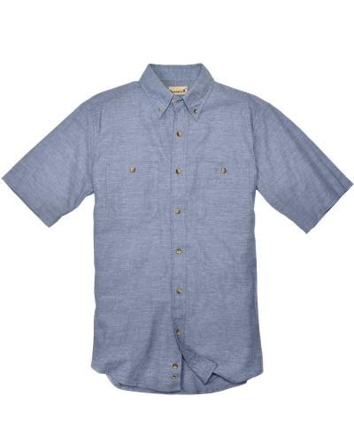 Men's Slub Chambray Short-Sleeve Shirt