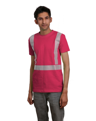 5.4 oz., 100% Cotton Hi-Visibility Segmented Striping T-Shirt