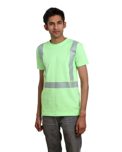 5.4 oz., 50/50 Hi-Visibility Segmented Striping T-Shirt