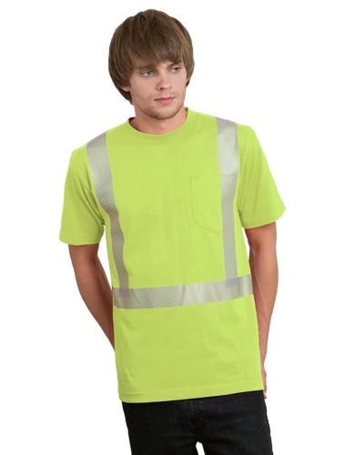 5.4 oz., 50/50 Hi-Visibility Segmanted Striping Pocket T-Shirt