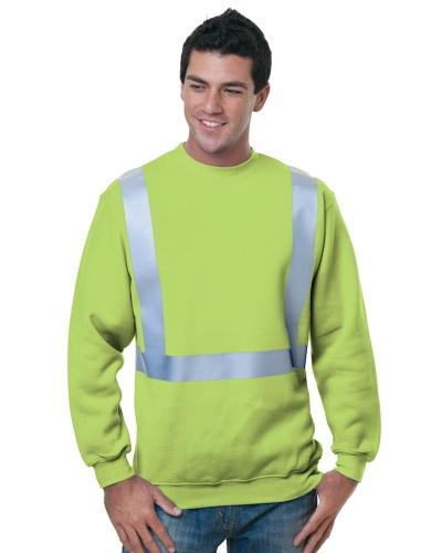 80/20 Heavyweight Hi-Visibility Solid Striping Crewneck Sweatshirt