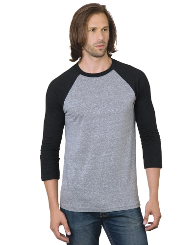 Unisex 4.2 oz., Triblend 3/4-Sleeve Raglan T-Shirt