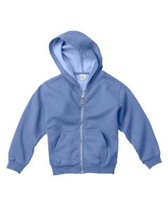 Youth 10 oz. Garment-Dyed Full-Zip Hooded Sweatshirt