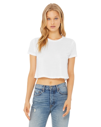 Ladies' Flowy Cropped T-Shirt
