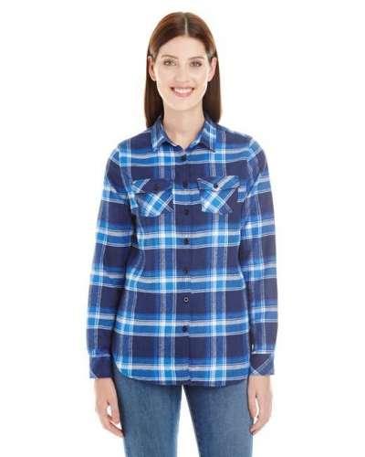 Ladies' Plaid Boyfriend Flannel Shirt