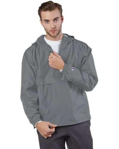 Champion CO200 Adult Packable Anorak 1/4 Zip Jacket