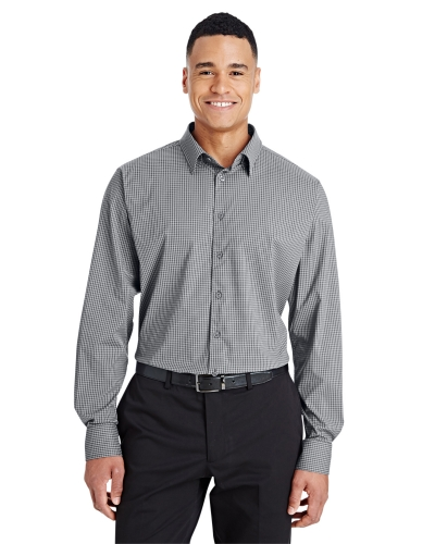 CrownLux Performance™ Men's Tonal Mini Check Shirt