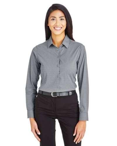 CrownLux Performance™ Ladies' Tonal Mini Check Shirt