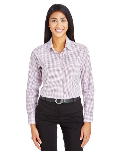 CrownLux Performance™ Ladies' Micro Windowpane Shirt