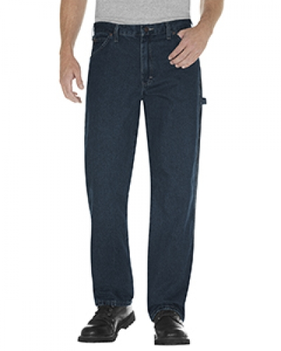 Unisex Relaxed Fit Stonewashed Carpenter Denim Jean Pant