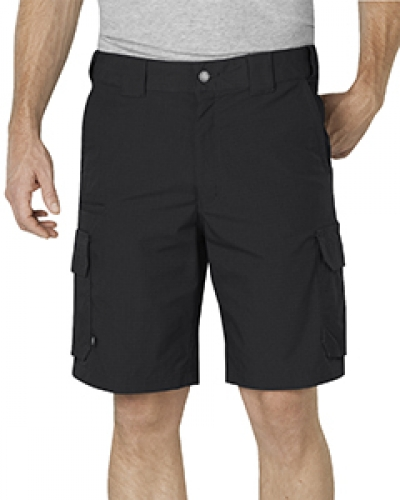 """Unisex Tactical 10"""" Relaxed Fit Stretch Ripstop Cargo Short"""