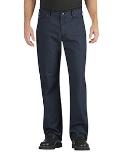 Unisex Industrial Relaxed Fit Straight Leg Carpenter Duck Jean Pant