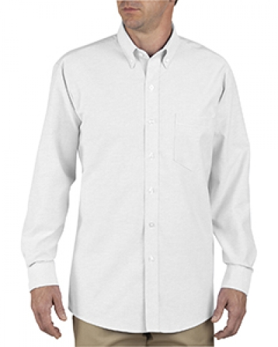 Unisex Button-Down Long-Sleeve Oxford Shirt