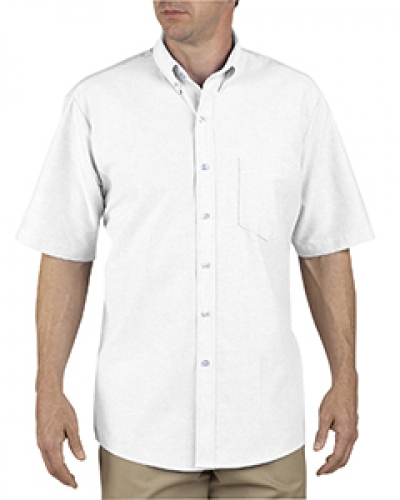 Unisex Button-Down Oxford Short-Sleeve Shirt