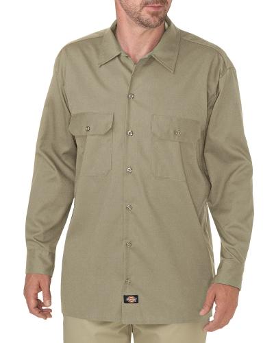 Men's FLEX Relaxed Fit Long-Sleeve Twill Work Shirt