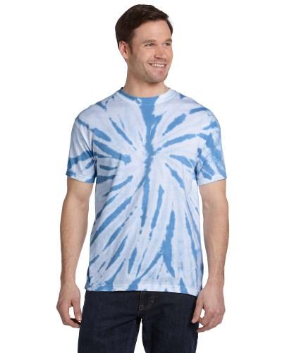 Tie-Dye CD110 Adult 100% Cotton Twist Tie-Dyed T-Shirt
