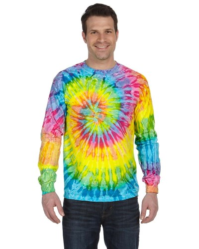 Tie-Dye CD2000 Adult 100% Cotton Long-Sleeve T-Shirt