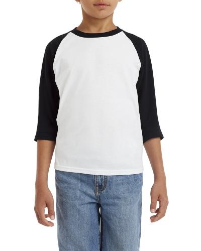 Youth  Heavy Cotton™ 5.3 oz. 3/4-Raglan Sleeve T-Shirt