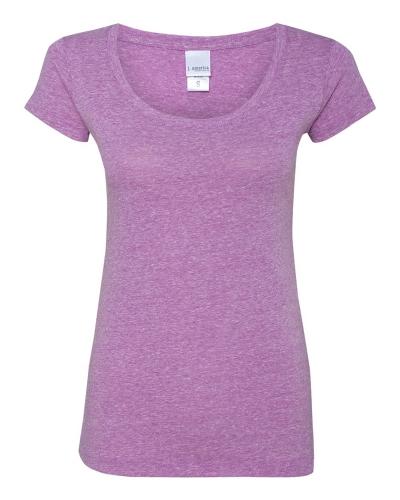 Ladies Twisted Slub Jersey Scoopneck T-Shirt