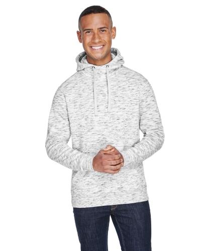 Adult Melange Fleece Pullover Hood