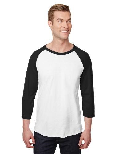 Jerzees 560RR Adult Premium Blend Ring-Spun Raglan Baseball T-Shirt