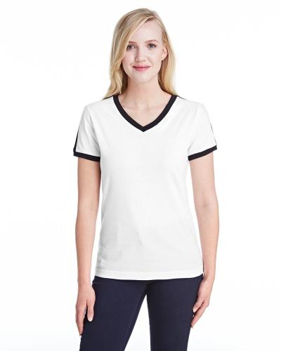 Ladies' Soccer Ringer Fine Jersey T-Shirt