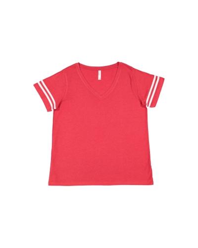 Ladies' Curvy Football Premium Jersey T-Shirt
