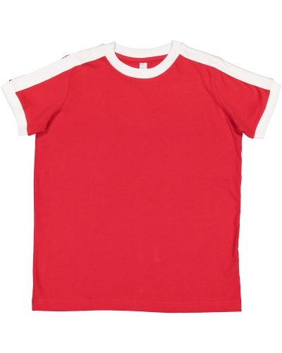Youth Soccer Ringer Fine Jersey T-Shirt