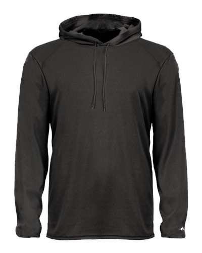 Badger 4105 B-Core Long Sleeve Hooded T-Shirt