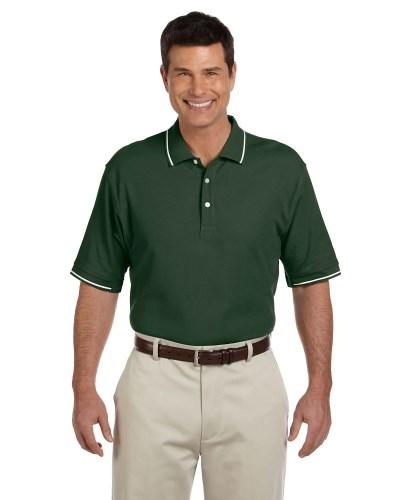Men's Pima Pique Short-Sleeve Tipped Polo